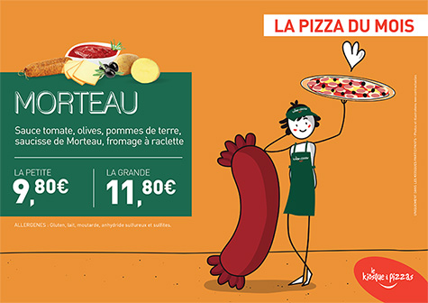 Le kiosque à pizzas de BRIVE BOUTIQUE CENTRE VILLE - la pizza du mois
