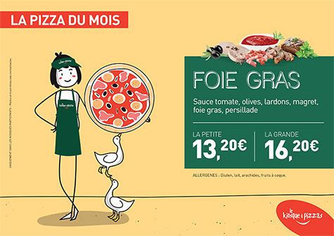 Le kiosque à pizzas de  BRIARE - la pizza du mois