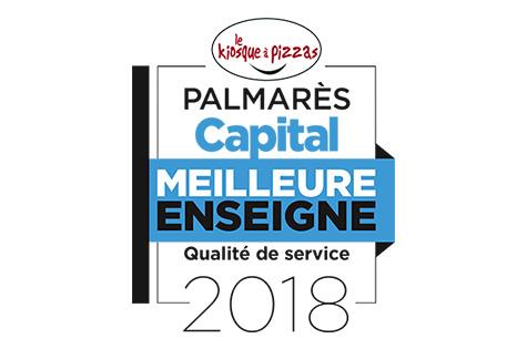 Le kiosque à pizzas - Palmarès Capital - Meilleure enseigne qualité de service 2018
