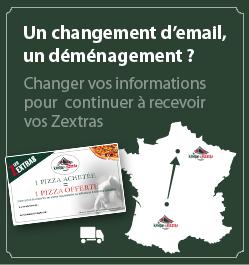 """Changer son kiosque à pizzas"""" titlChanger son adresse e-mail pour les Z'extras"""