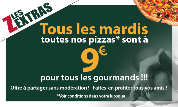 Le kiosque à pizzas de MORESTEL  - coupon promotionnel